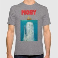Moby  Mens Fitted Tee Tri-Grey SMALL