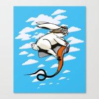 Hare Dryer Flyer Canvas Print