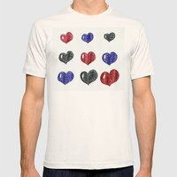 My hearts Mens Fitted Tee Natural SMALL