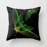 In Flight 4 Of 5 Series Throw Pillow