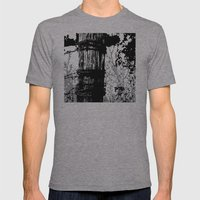 Barbed Wire Fence Post B… Mens Fitted Tee Athletic Grey SMALL