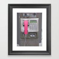 The Phone Framed Art Print