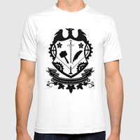 Steampunk Crest Mens Fitted Tee White SMALL