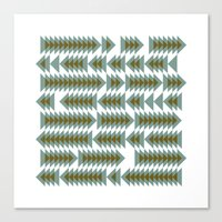 #393 Shoal movements – Geometry Daily Canvas Print