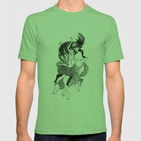 Femme Loup Tattoo Mens Fitted Tee Grass SMALL