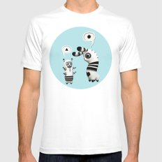 Lally Lama Mens Fitted Tee White SMALL