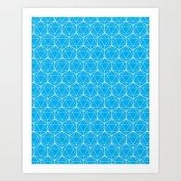 Icosahedron Pattern Brig… Art Print