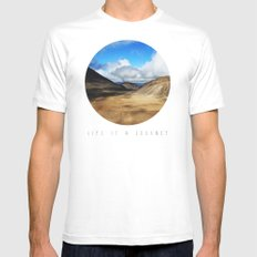 Life Is A Journey (Colour)  Mens Fitted Tee White SMALL