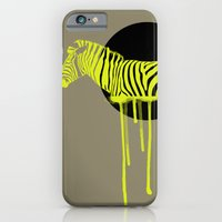 zebra iPhone & iPod Cases featuring Zebra by ministryofpixel