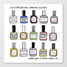 Less Popular Nail Varnis… Canvas Print
