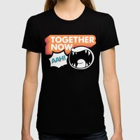 Together Now... AAH! Womens Fitted Tee Black SMALL