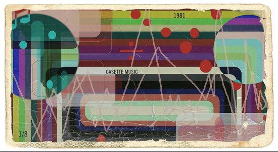 Casette Music 1981 Art Print