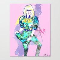 Hedda In Motion XO Canvas Print