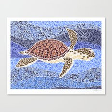 sea turtle: unity through collage Canvas Print