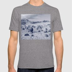 Cancha de Bochas Mens Fitted Tee Tri-Grey SMALL