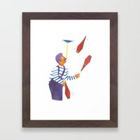 A Circus Performer Named… Framed Art Print