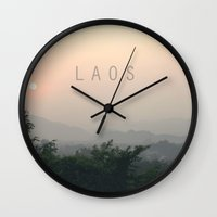 COUNTRY SERIES - LAOS Wall Clock