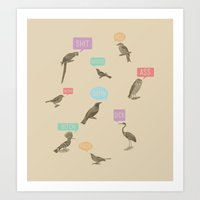 Fowl Language Art Print