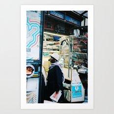 Women standing at the magazine Kiosque, Paris 2012 Art Print