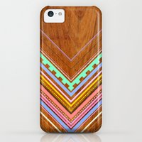 iPhone 5c Cases featuring Aztec Arbutus by Jenny Mhairi