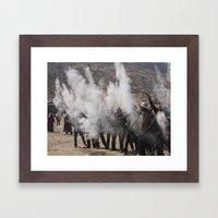 Prayerful Ashes Framed Art Print
