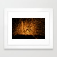 Home made fireworks Framed Art Print
