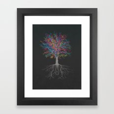 It Grows on Trees - Technicolor Framed Art Print