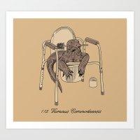 Varanus Commodeensis Art Print