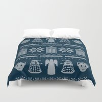 Who's Sweater Duvet Cover