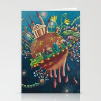 The Intergalactic Train Stationery Cards