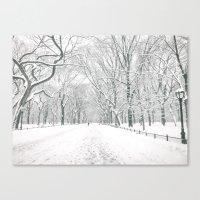 New York City Snow Canvas Print