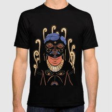 Indian Man Mens Fitted Tee Black SMALL