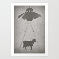 Everybody Loves Beef Art Print
