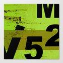 GRUNGE TECHNO V52m Typography | olive black Canvas Print