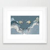 Blue kiss in spring Framed Art Print