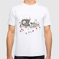 Cowardly Lion Mens Fitted Tee Ash Grey SMALL