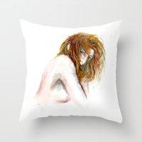 Hidden Girl Throw Pillow