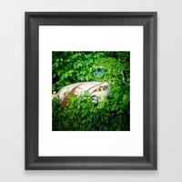 Abandoned Beetle Framed Art Print