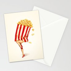Popcorn Girl Stationery Cards
