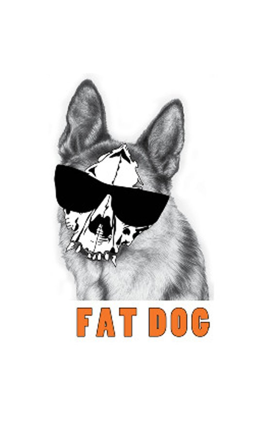 Fat Dog Art Print