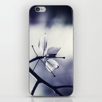 Spring Leaves In Black A… iPhone & iPod Skin