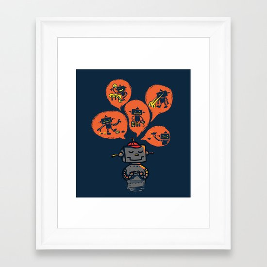 When I grow up - an evil robot dream Framed Art Print