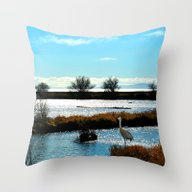 Throw Pillow featuring Waiting For Supper by Lena Photo Art