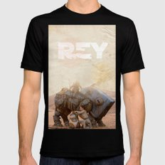 Rey planet Mens Fitted Tee Black SMALL