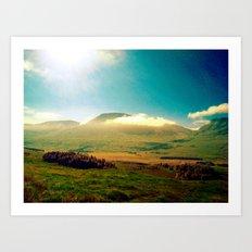 morning clouds in scotland. Art Print