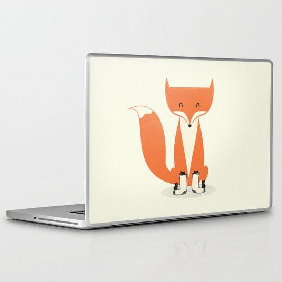 A Fox With Socks Laptop & iPad Skin