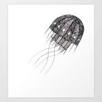 Pattern Jellyfish Art Print