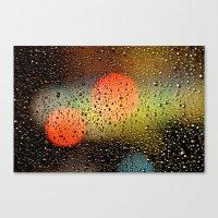 Rain Drops And Color Pop… Canvas Print