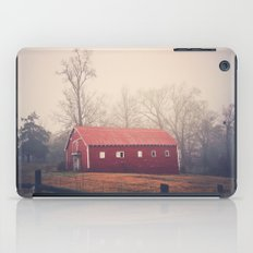 Little Red Barn in the Fog iPad Case