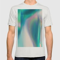 Pacifica glitch Mens Fitted Tee Silver SMALL